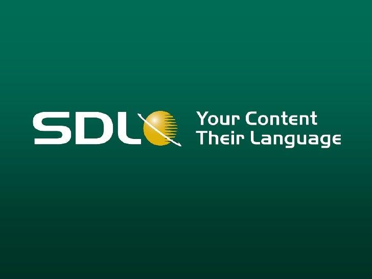 SDL Server 2009 Launch Presentation
