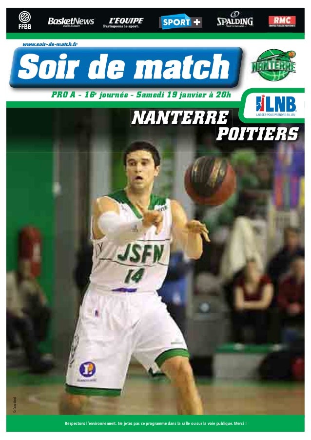 www.soir-de-match.fr                           PRO A - 16e journée - Samedi 19 janvier à 20h                              ...
