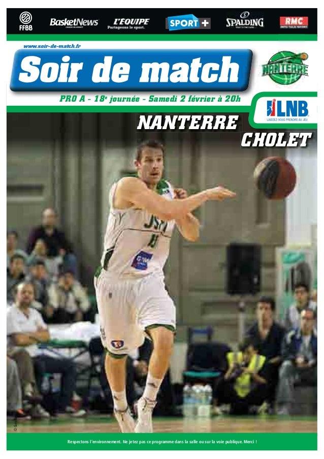 www.soir-de-match.fr                             PRO A - 18e journée - Samedi 2 février à 20h                             ...
