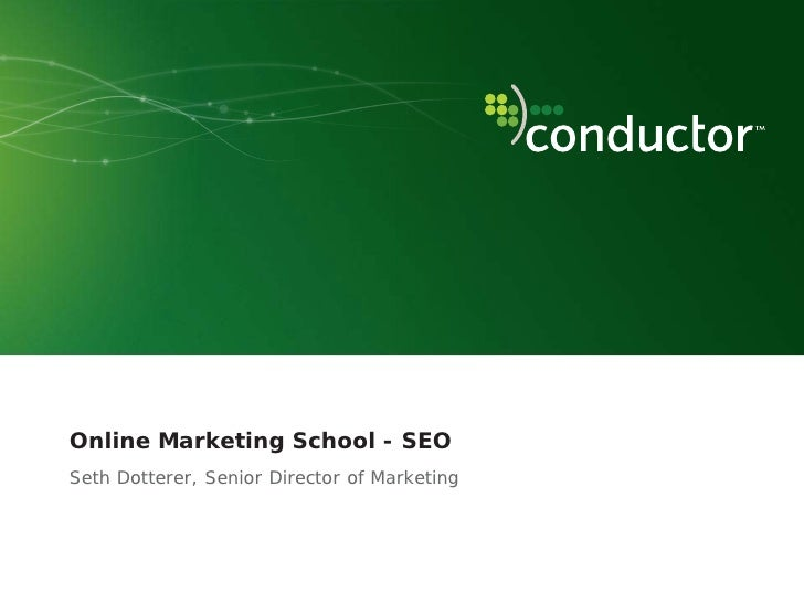 nextNY Online Marketing School Intro to SEO