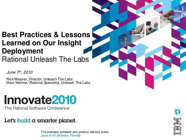 Best practices and lessons learned on our ibm rational for Consul best practices