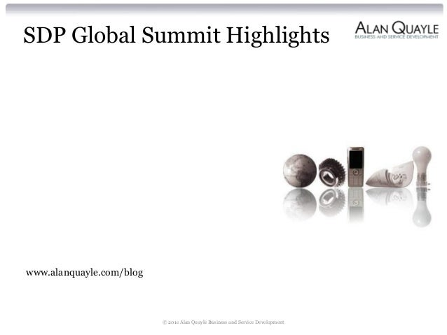 SDP Global Summit 2013 Summary