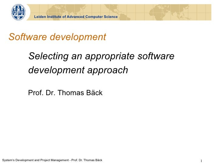 SDPM - Lecture 3 - Selecting an appropriate software development approach.pdf