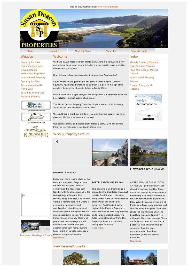 SD Property group newsletter