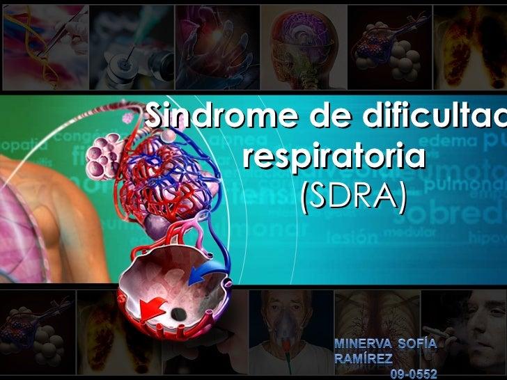 Sindrome de dificultad respiratoria aguda