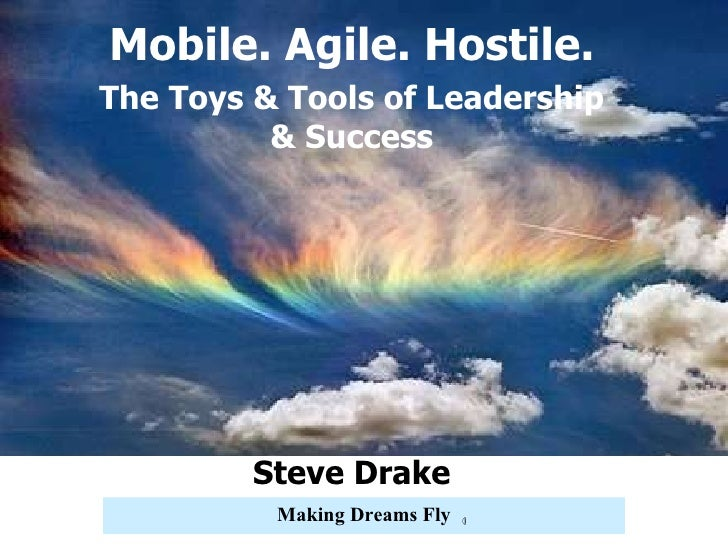 Now What? Steve Drake Mobile. Agile. Hostile. The Toys & Tools of Leadership & Success