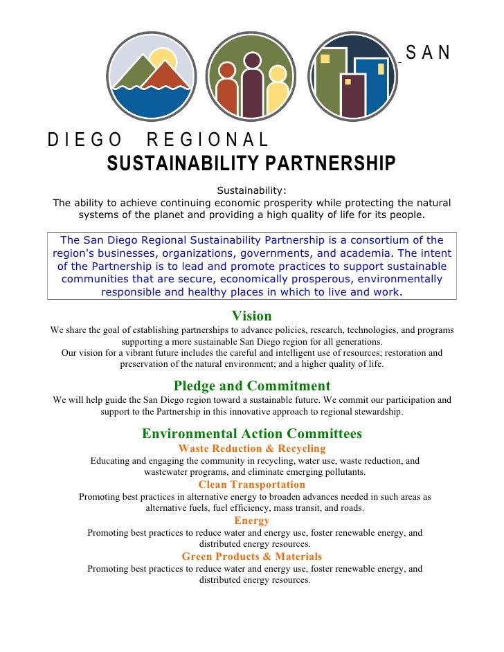 San Diego Regional Sustainability Partnership