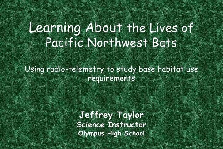 SDS Episode2 - The Habitat Requirements of Pacific Northwest Bats
