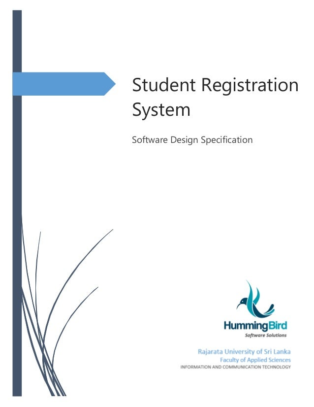 example for sds document in software engineering With student registration system documentation