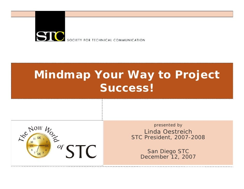 Mindmap Your Way to Project         Success!                     presented by                  Linda Oestreich            ...