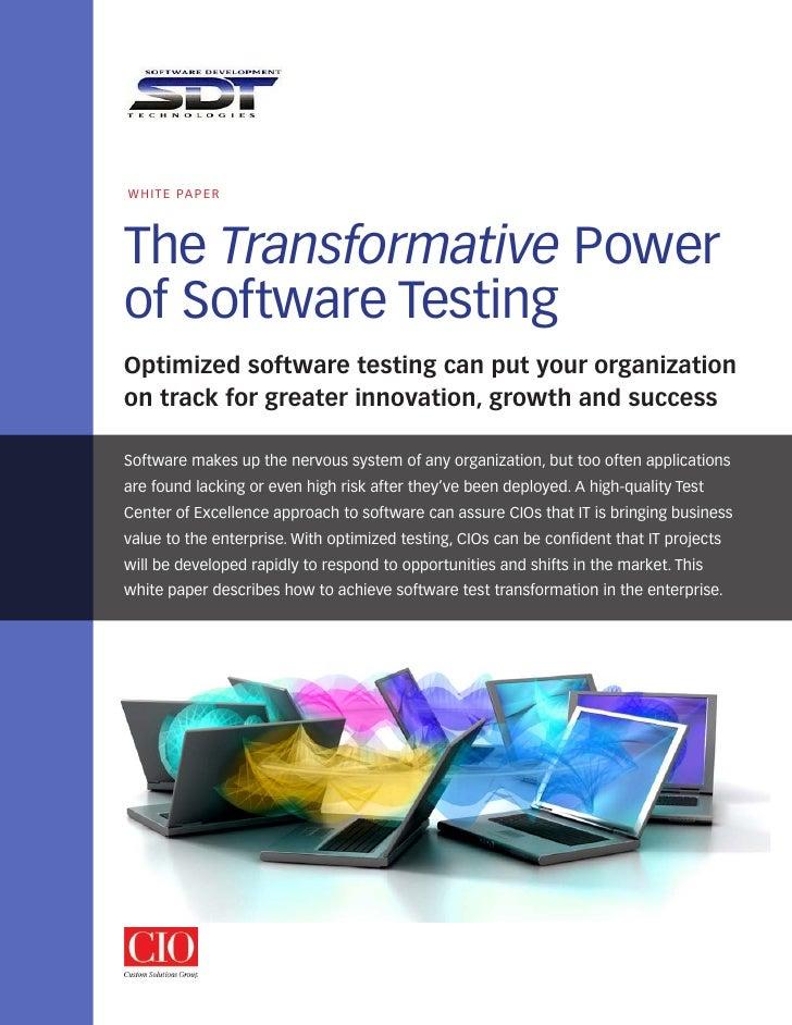 SDT Transformation White Paper