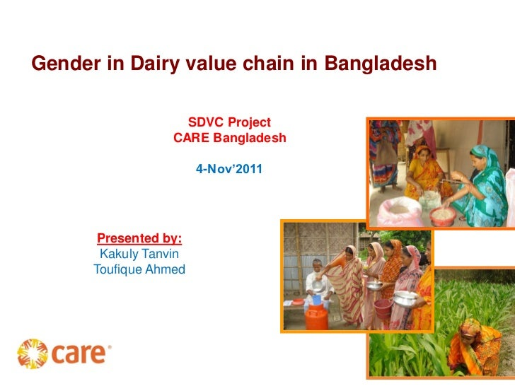 Gender in Dairy value chain in Bangladesh                    SDVC Project                  CARE Bangladesh                ...