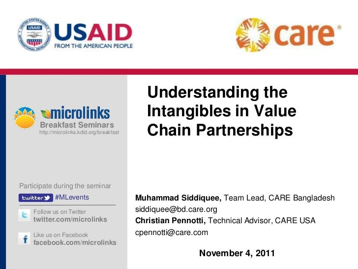 Understanding the Intangibles in Value Chain Partnerships