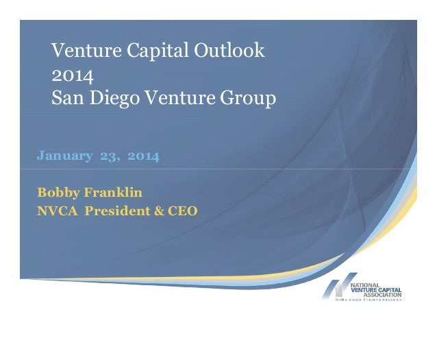 SDVG VC Outlook 2014 NVCA slides