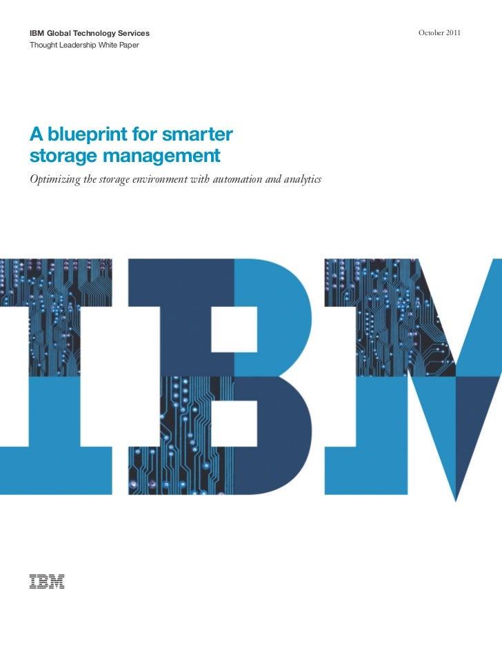 A blueprint for smarter storage management