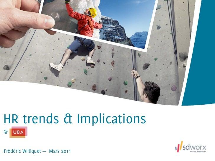 HR trends & Implications@Frédéric Williquet — Mars 2011
