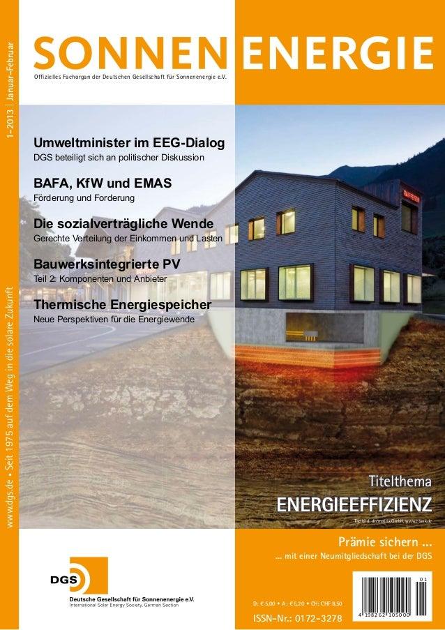1-2013 | Januar-Februar                                                           offizielles Fachorgan der deutschen gese...