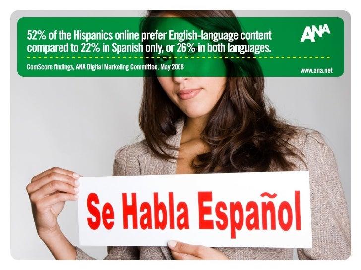Hispanics' Preference of Spanish vs. English-language content