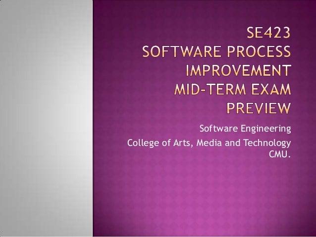 Se423mid term preview