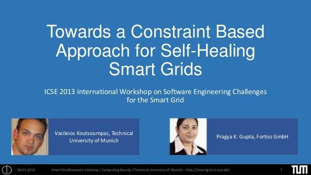 Towards a Constraint BasedApproach for Self-HealingSmart GridsICSE 2013 International Workshop on Software Engineering Cha...