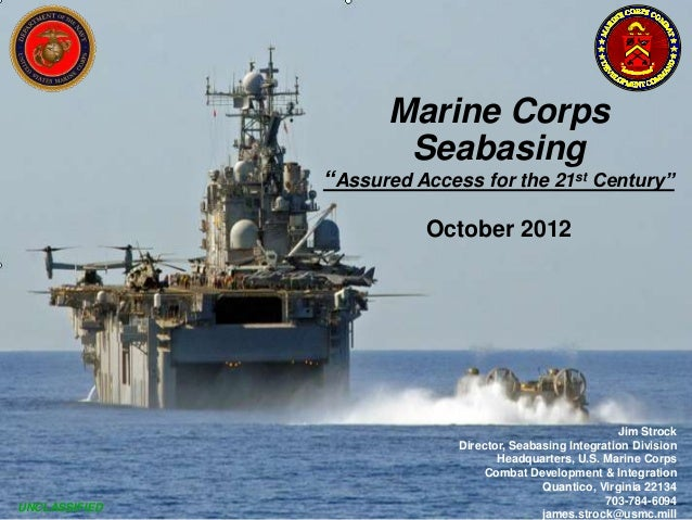 """Marine Corps                      Seabasing               """"Assured Access for the 21st Century""""                         Oc..."""