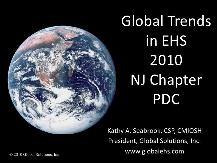Kathy Seabrook: International Trends in EHS Management