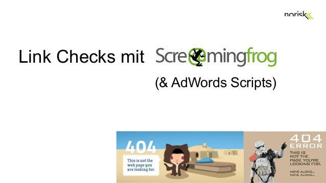 Link Checks mit (& AdWords Scripts)