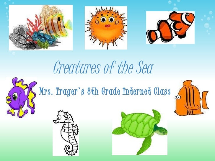 Sea Creatures PowerPoint