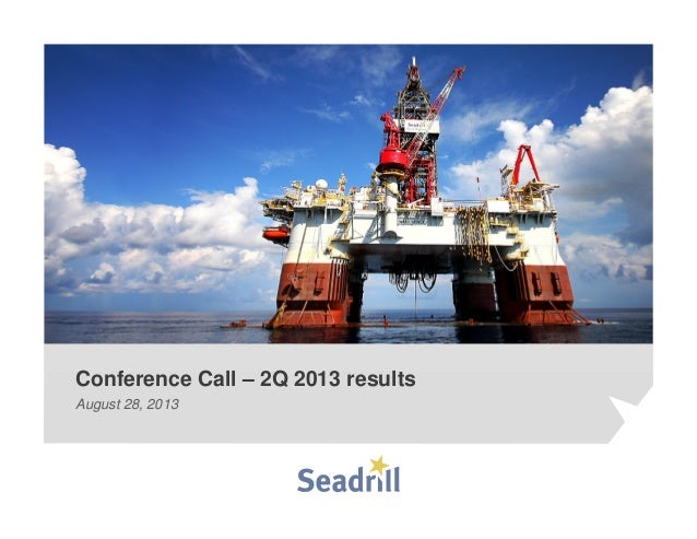 Seadrill Q2 2013 results presentation