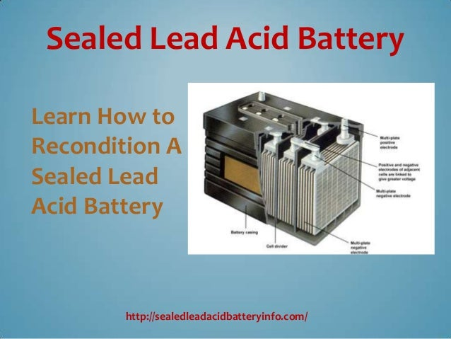 Recondition sealed lead acid battery voltage