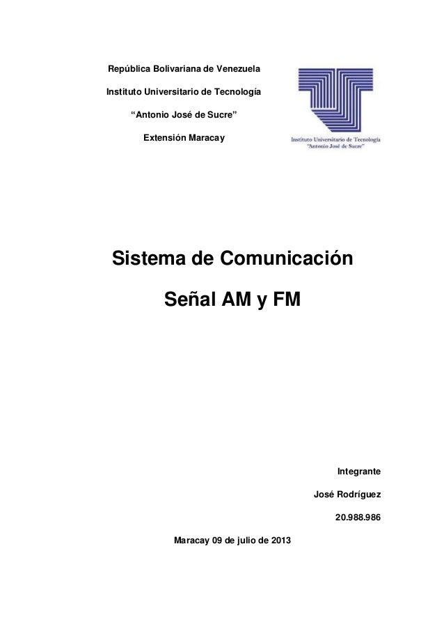 """República Bolivariana de Venezuela Instituto Universitario de Tecnología """"Antonio José de Sucre"""" Extensión Maracay Sistema..."""