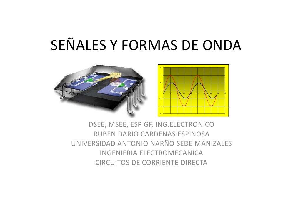 SEÑALES Y FORMAS DE ONDA          DSEE, MSEE, ESP GF, ING.ELECTRONICO        RUBEN DARIO CARDENAS ESPINOSA   UNIVERSIDAD A...