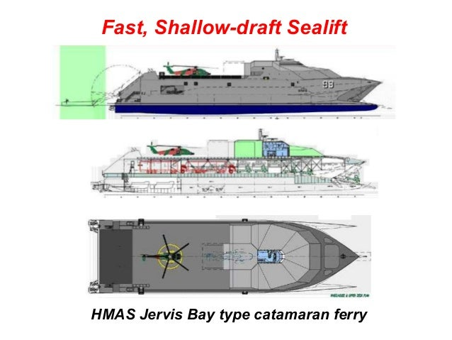 Fast, Shallow-draft SealiftHMAS Jervis Bay type catamaran ferry