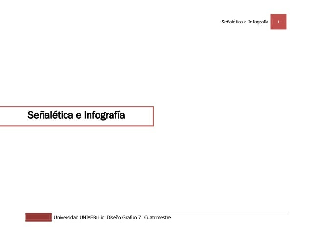 Señalética e Infografía   1Señalética e Infografía      Universidad UNIVER| Lic. Diseño Grafico 7 Cuatrimestre