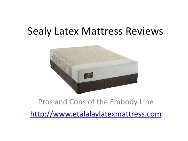 Sealy Latex Mattress Reviews   The Pros and Cons of the Embody Line