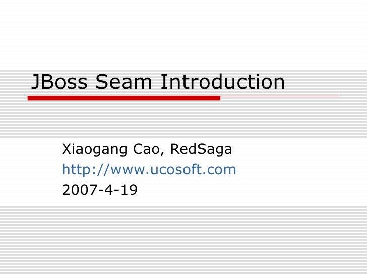 Seam Introduction