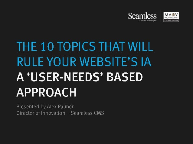 Seamless   the 10 topics that will rule your websites ia