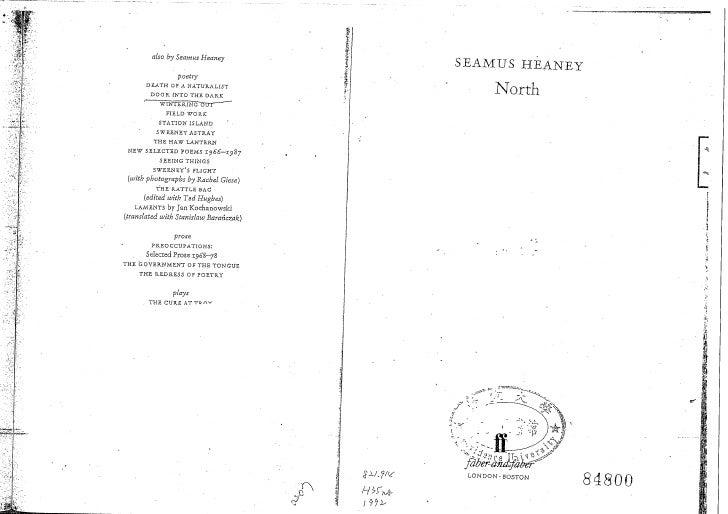 Seamus heaney north