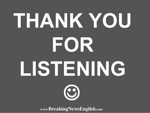 Listening To The News By Sean Banville Breaking News English