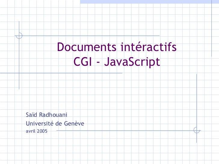 Documents intéractifs