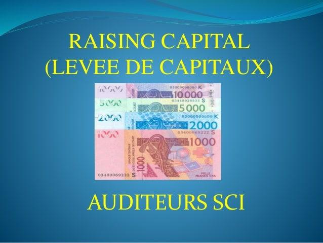 AUDITEURS SCI RAISING CAPITAL (LEVEE DE CAPITAUX)
