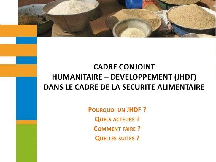 Cadre commun humanitaire-développement