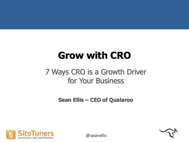 (Webinar)  7 Ways to Make CRO a Growth Driver for Your Business 2014