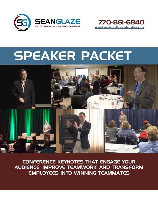Sean Glaze Speaker Packet Interactive