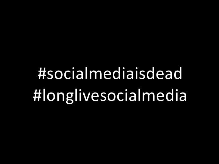 #socialmediaisdead #longlivesocialmedia