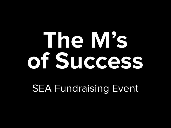 SEA Fundraising Workshop - Rob Kubasko