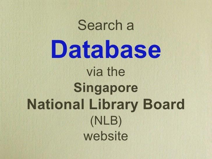Search A Database Via NLB