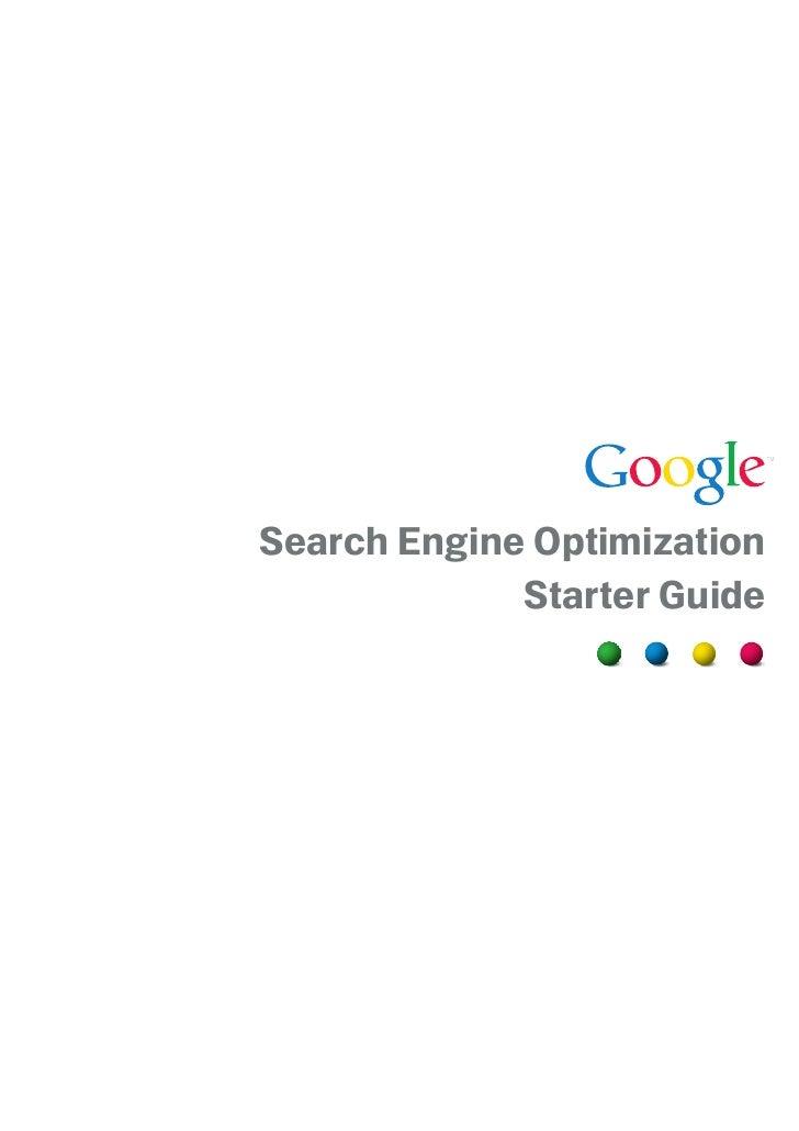 Search Engine Optimization Starter Guide