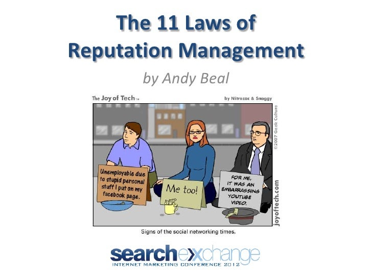 The 11 Laws ofReputation Management      by Andy Beal