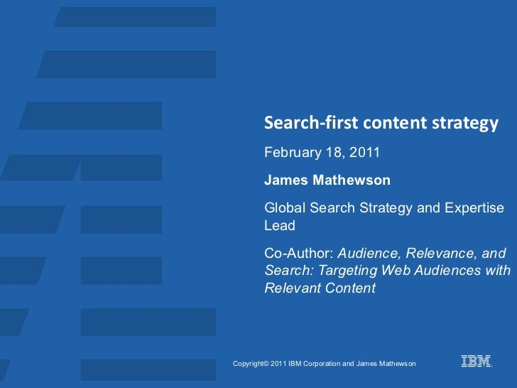 Search first content strategy